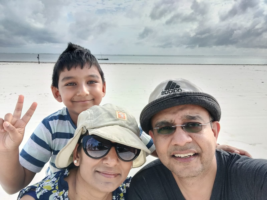Pooja & family
