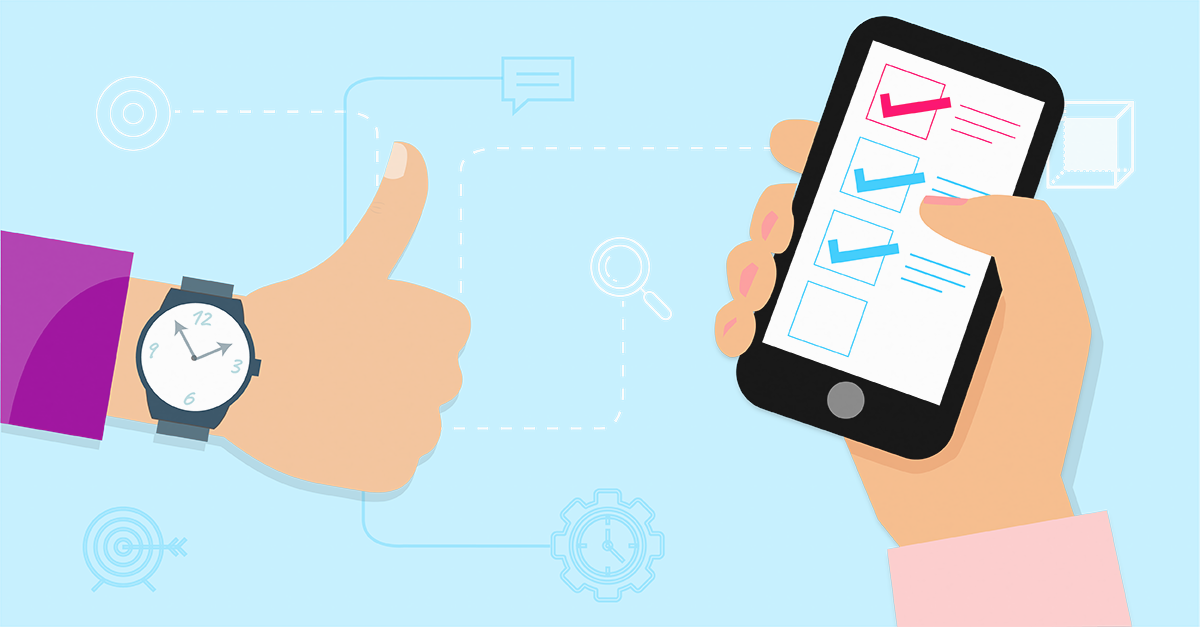 Featured image of thumbs up and hand holding mobile on 'nHanced User Tasks' page